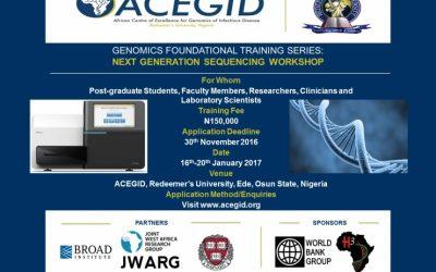 Genomics Foundational Training Series: Next Generation Sequencing Workshop