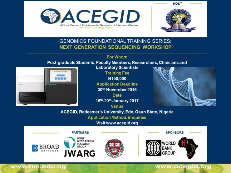 Genomics Foundational Training Series: Next Generation Sequencing Workshop