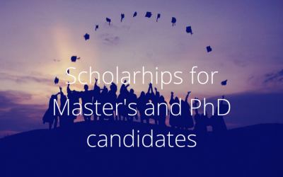 Scholarships for Masters and PhDs starting in 2018